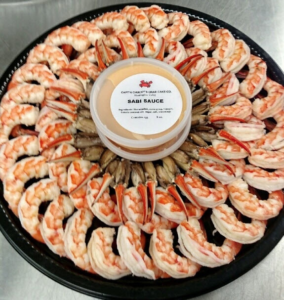 shrimp and crab claw platter
