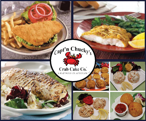 Captn Chuckys fish selections new w crab cakes